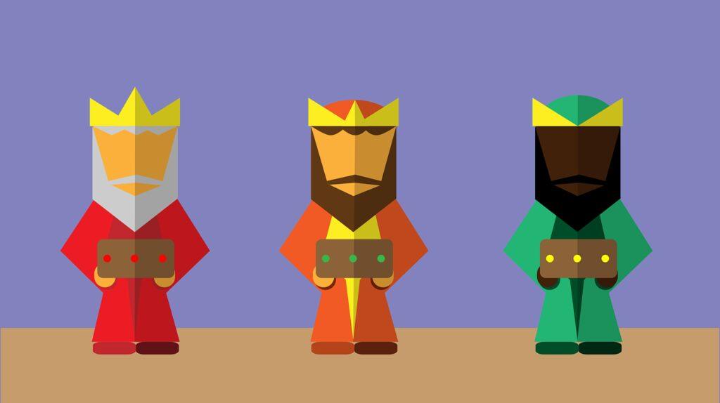 magi, flat design, kings