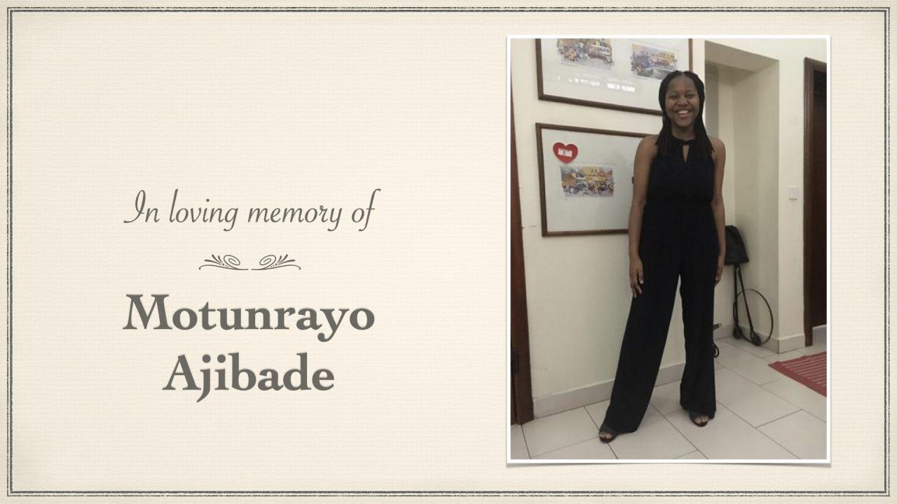 Funeral of Motunrayo Ajibade – Friday 2nd July at 2:30pm